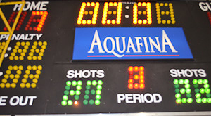 Aquafina advertises at Pitt Meadows Arena