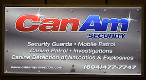 CanAm Security advertises at Pitt Meadows Arena