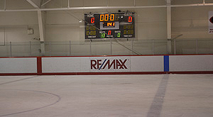 REMAX advertises at Pitt Meadows Arena